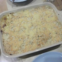 A savoury pudding? Yes it works: Vegetable and lentil crumble