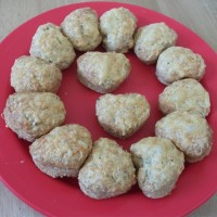 'We love you Daddy' mini heart-shaped cheese scones