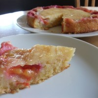 Plum and almond upside-down cake (inspired by the Great British Bake Off, episode 1)
