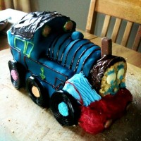 Thomas the choo choo birthday cake