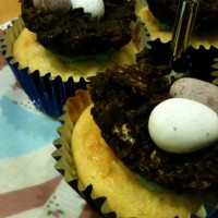 Cupcake of the month (March): vanilla, with little egg nests