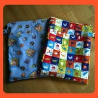 Nappy-related sewing projects: wet/dry bag and fleece soakers
