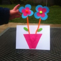 Springy flowers Mothering Sunday card