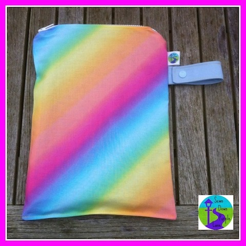 Rainbow medium wet bag 1 jpg